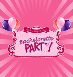 Sticker for bachelorette party vector