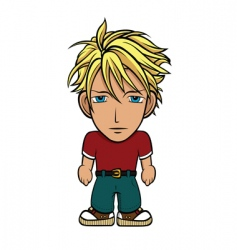 Chibi guy blond vector