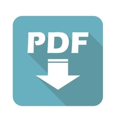 Square pdf download icon vector