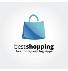 Abstract shopping logo icon concept isolated on vector