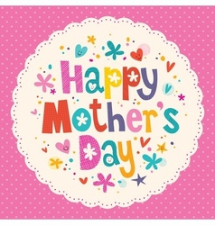 Happy mothers day card 2 vector