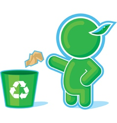 Green hero recycle container vector