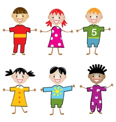 Young children vector