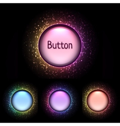 Set of bright color shiny buttons vector
