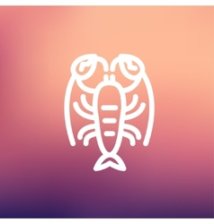 Lobster thin line icon vector