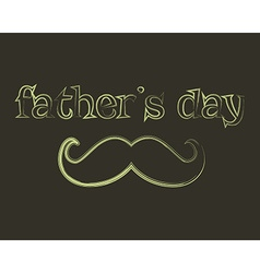 Father s day greeting template mustache and tie vector