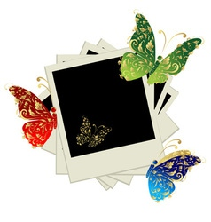 Pile of photos insert your pictures vector