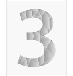 Number three on a white background vector