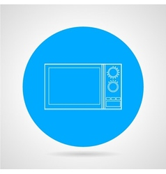 Microwave flat line icon vector