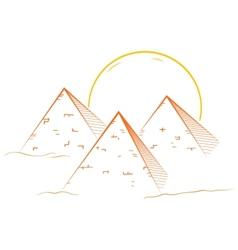Three pyramids vector
