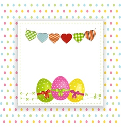 Easter background with panel and bunting vector
