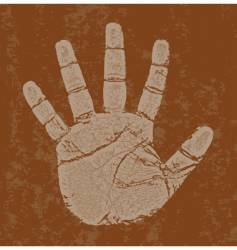 Grunge right hand vector