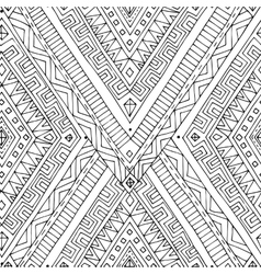 Seamless asian ethnic black and white pattern vector