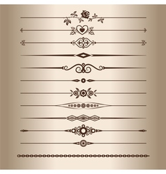 Decorative lines vector