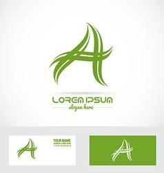 Letter a swoosh logo vector