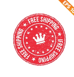 Rubber stamp free shipping - - eps10 vector