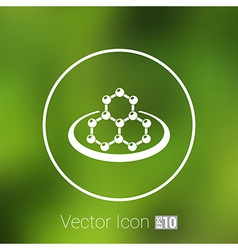 Icon molecular research chemistry medicine vector