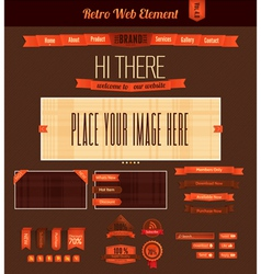 Retro web element 4 vector