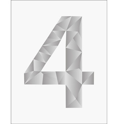 Number four on a white background vector