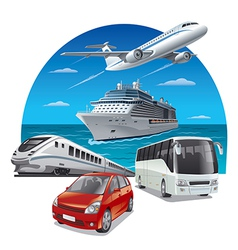 Travel transport vector