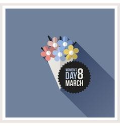 International womens day card vector