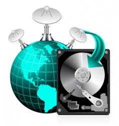 Hard disk drive  world vector