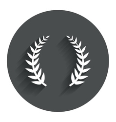 Laurel wreath sign icon triumph symbol vector