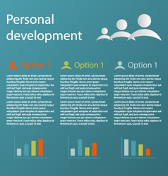 Three steps personal development infographic vector
