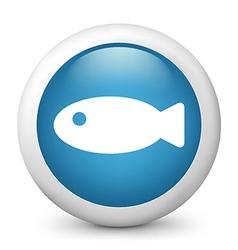 Fish glossy icon vector