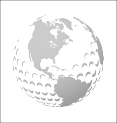 Golf world vector