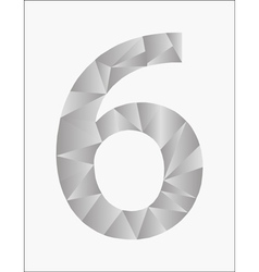 Number six on a white background vector
