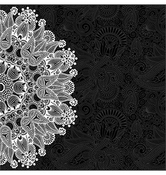 Black and white ornamental circle template vector