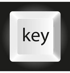 Computer white key isolated on black background vector