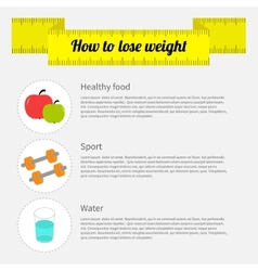 How to lose weight infographic healthy food sport vector