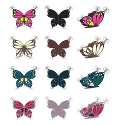 Colorful butterflies set3 vector