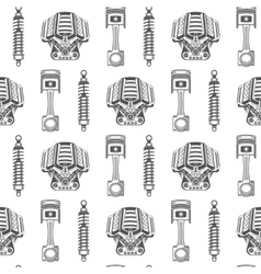 Seamless pattern of car parts vector