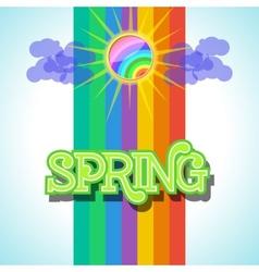 Spring background design vector