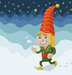 Jogging elf vector