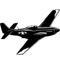 P51 mustang vector