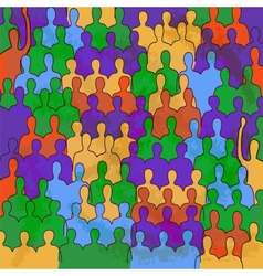 Retro poster with color people vector