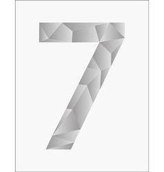 Number seven on a white background vector