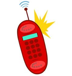 Cartoon cell phone vector
