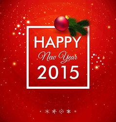 Happy new year 2015 card traditional red vector
