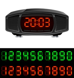 Radio alarm clock vector