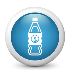 Water bottle glossy icon vector