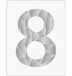 Number eight on a white background vector