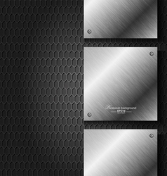 Abstract black metal technology background vector