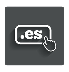 Domain es sign icon top-level internet domain vector