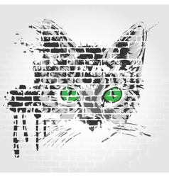 Gray cat vector