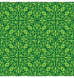 Green floral seamless wallpaper pattern vector